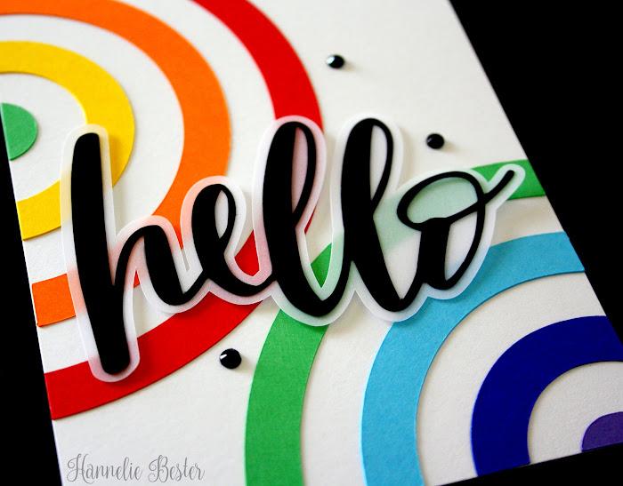 hello rainbow card