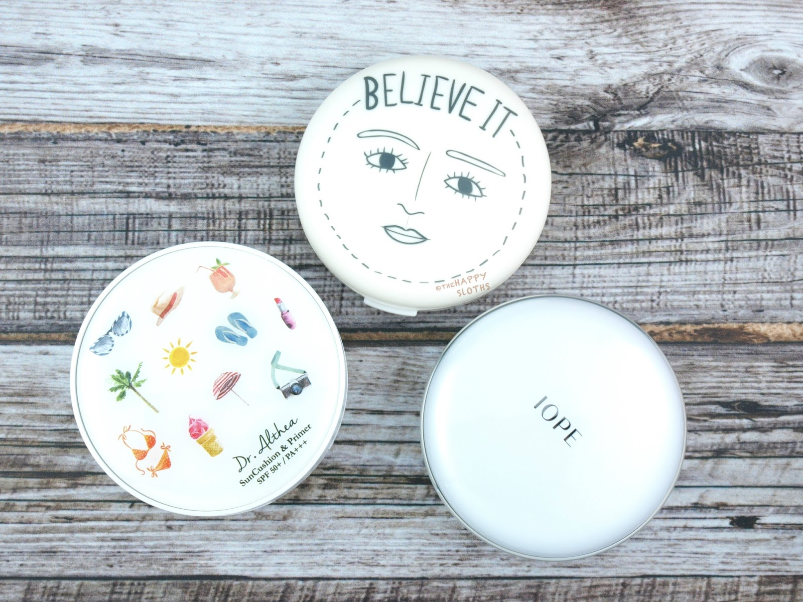 ABBAMART Believe It Powder Pact | Dr. Althea Sun Cushion & Primer | IOPE Air Cushion Matte Longwear