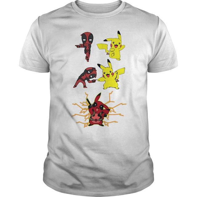 Pikapool Deadpool Pikachu Fusion T Shirt Hoodie Sweatshirt Tank Tops