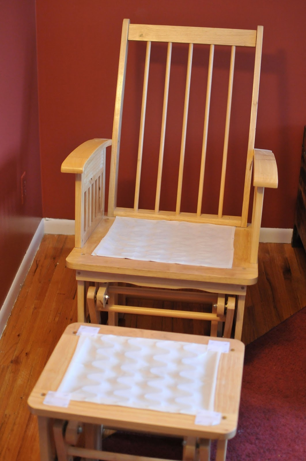 cheap glider chair ikea rocking covers attempting agape no sew easy makeover