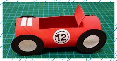 DIY งานประดิษฐ์รถจากกระดาษ