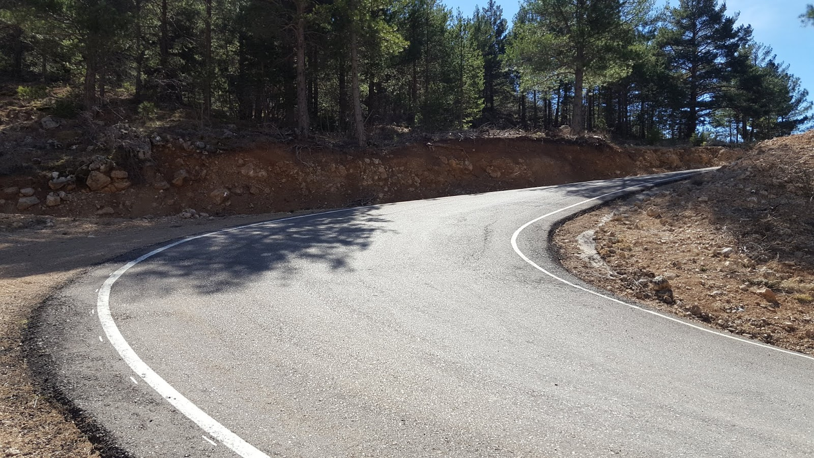 Hairpin on climb to Javalambre Astrophysical Observatory, Teruel