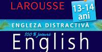 """Castiga 5 carti """"Engleza distractivă – metoda Larousse pentru 13 – 14 ani"""""""