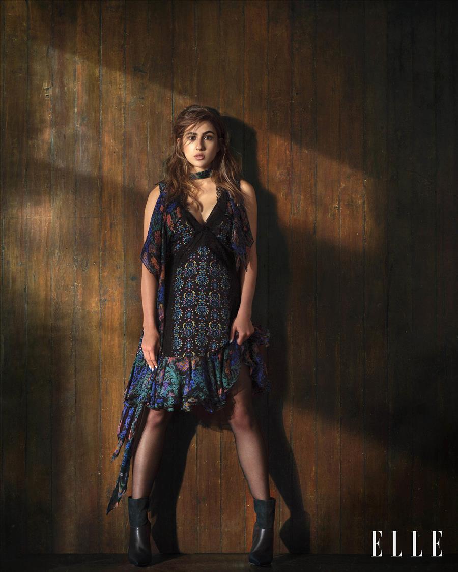 Glamorous Indian Model Sara Ali Khan For Elle India Photoshoot