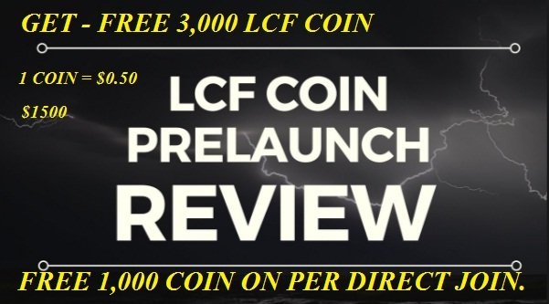 LCF COIN Free 3000 Coin On Registration