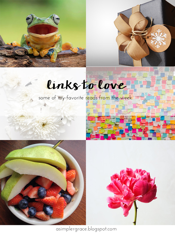 My favorite reads from the week.  #linkstolove #fridayfavorites - Links to Love | 77 - A Simpler Grace