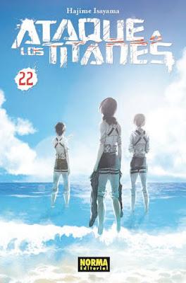 """Reseña de """"Ataque a los Titanes"""" vol.22 de Hajime Isayama - Norma Editorial"""