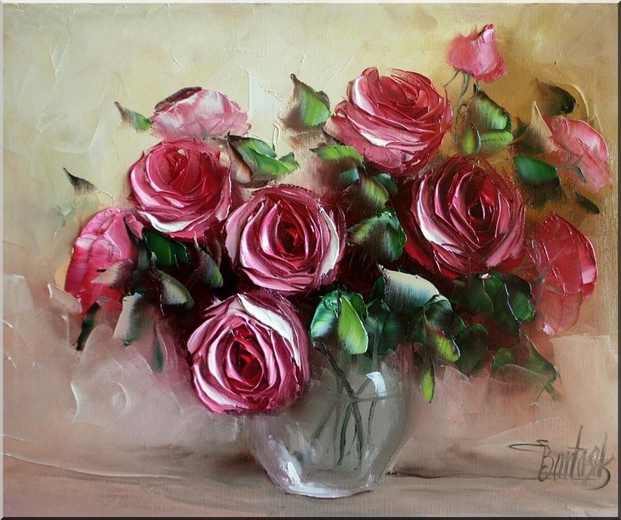 Imgenes Arte Pinturas Las Rosas y Girasoles en Pinturas