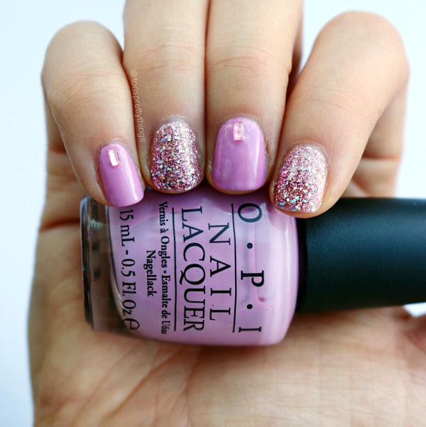 OPI Teenage Dream Glitter Nail Art - Tori's Pretty Things Blog