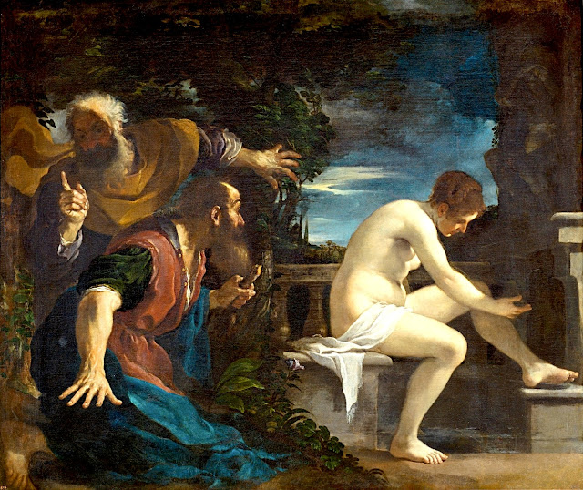 Giovanni Francesco Barbieri detto il Guercino - Susanna e i vecchioni