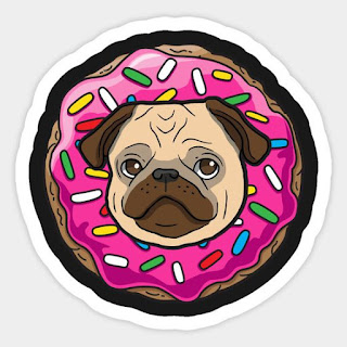 https://www.teepublic.com/sticker/2253227-pug-donut