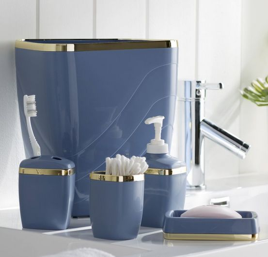 Basic Royal Blue Bathroom Sets Accessories