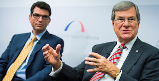 Former Senate Majority Leader Trent Lott (R-Miss.) wants to price carbon dioxide to address climate change. (Credit: Bipartisan Policy/Flickr) Click to Enlarge.