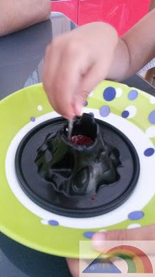 Preparación del bicarbonato y el colorante