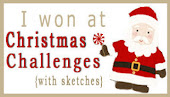 gagnante chez Christmas challenge + sketch