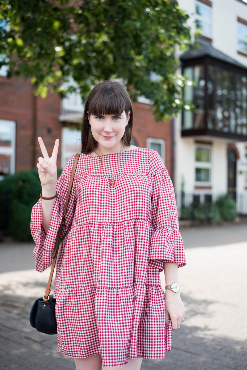 Zara Oversized Gingham Dress