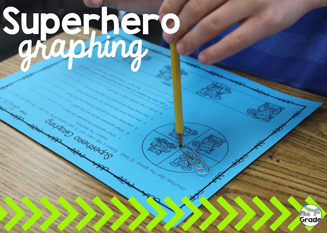 Superhero graphing is a great way for student to practice recording data and then being able to read it