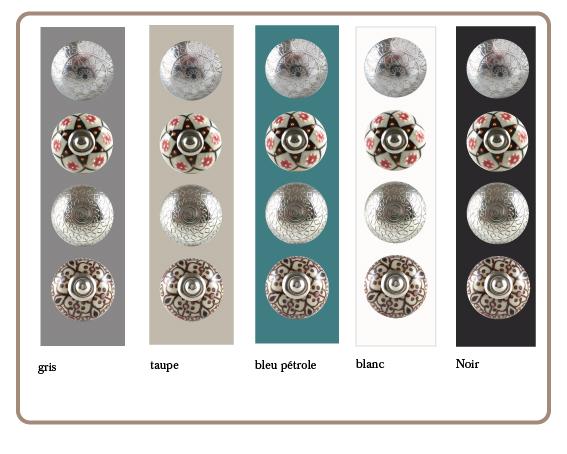 boutons de meuble ethnique artisan