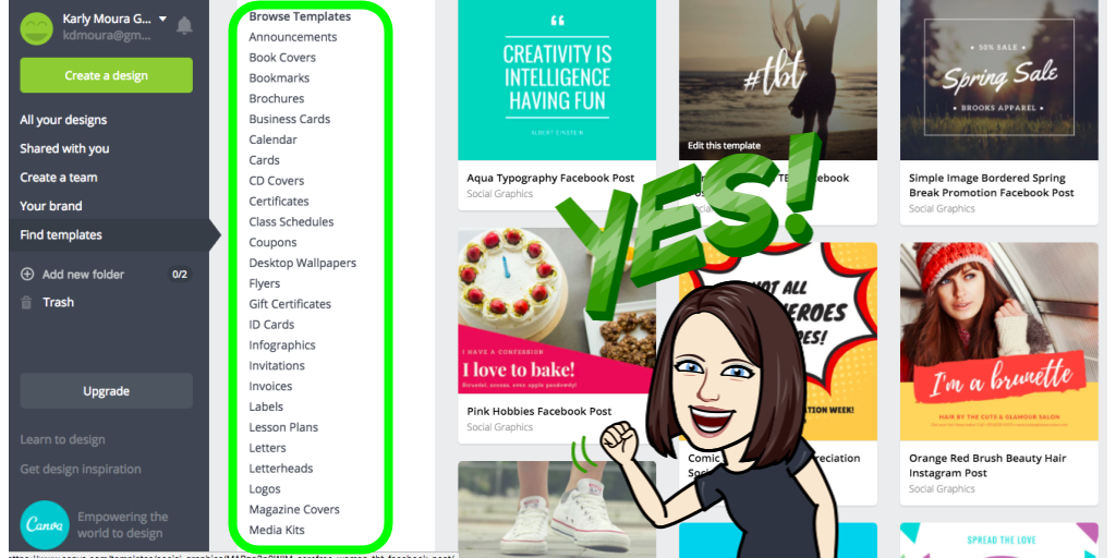 Teaching, Tech and Twitter: 20 Ways to Use Canva's Templates With