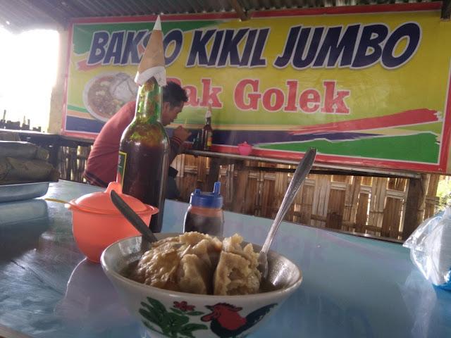 Kuliner Gresik - Bakso Kikil Jumbo Pak Golek Sebelah Barat Greensmart Menganti