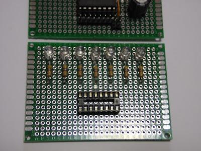 Fig. 6 - Modulo con i 7 LED montati - Foto di Paolo Luongo