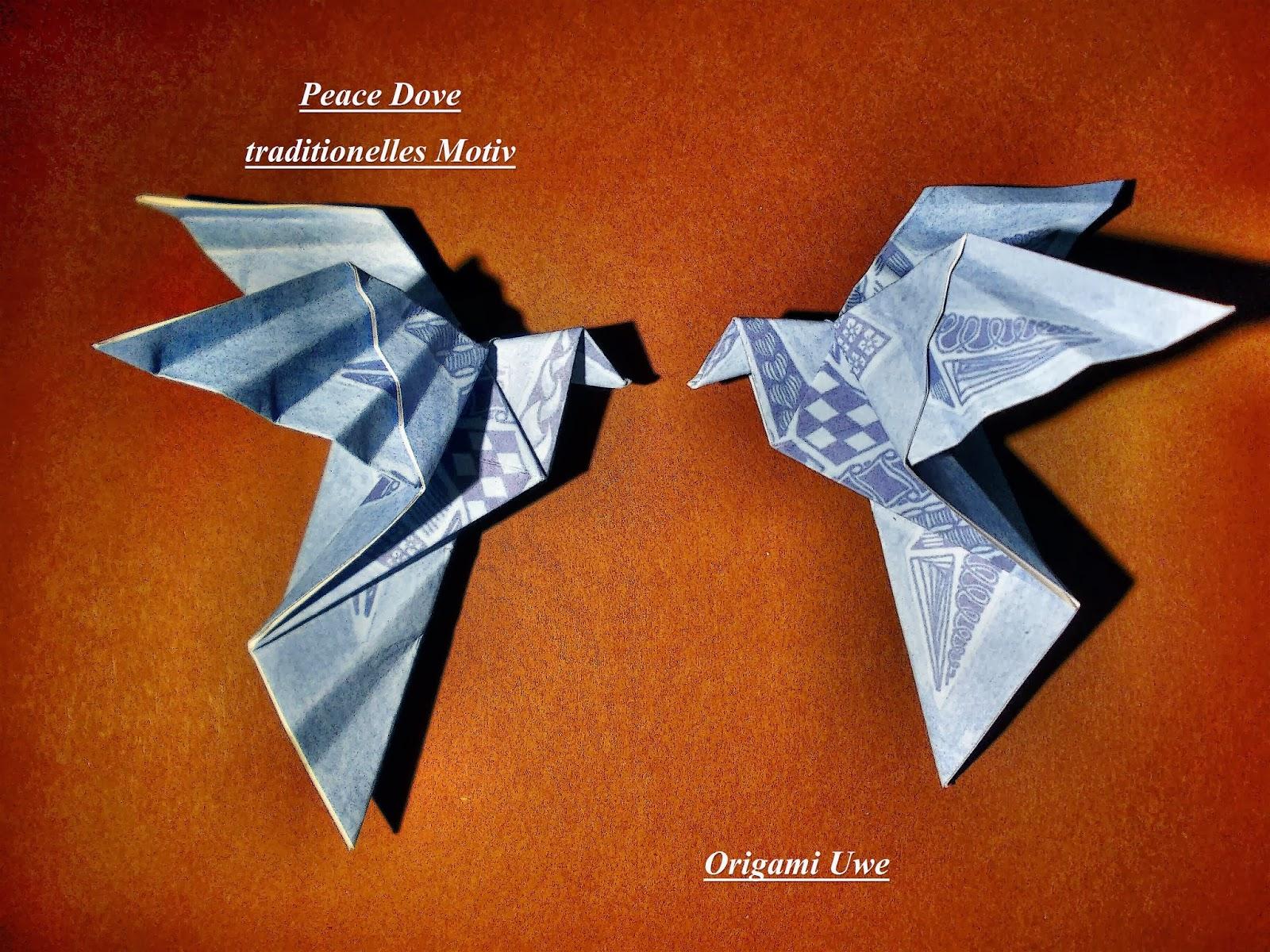 Origami, Fleurogami und Sterne: Peace Dove - photo#47