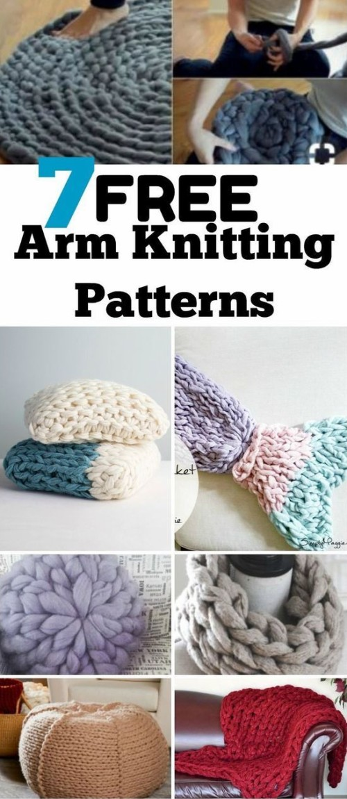 Free Arm Knitting Patterns with Chunky Yarn