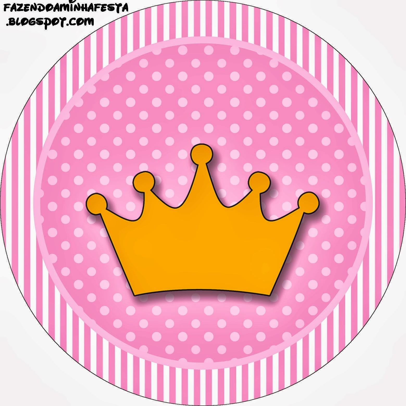 Coronas Para Decorar Cuadernos.Coronas Sobre Fondo Rosa Etiquetas Para Imprimir Gratis