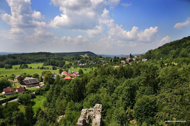 Widok z zamku Frydstejn, kierunek  zachodni
