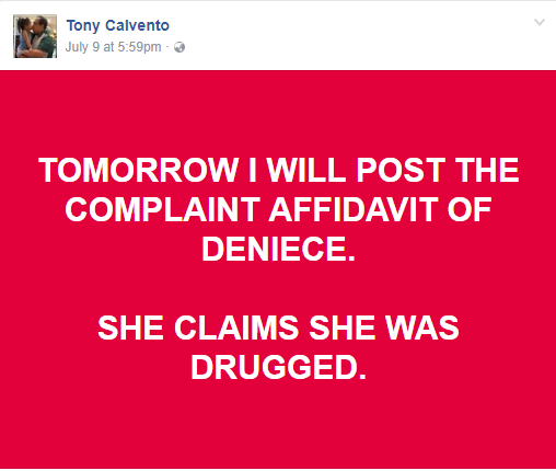 """THIS COMING WEEK VHONG NAVARRO WILL BE ARRESTED!"" -- TONY CALVENTO"