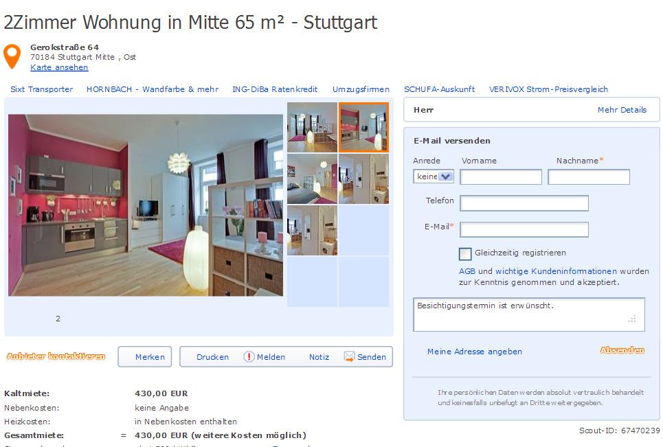Frauenlobstrae 71 55118 Mainz  Gegen Wohnungsbetrug