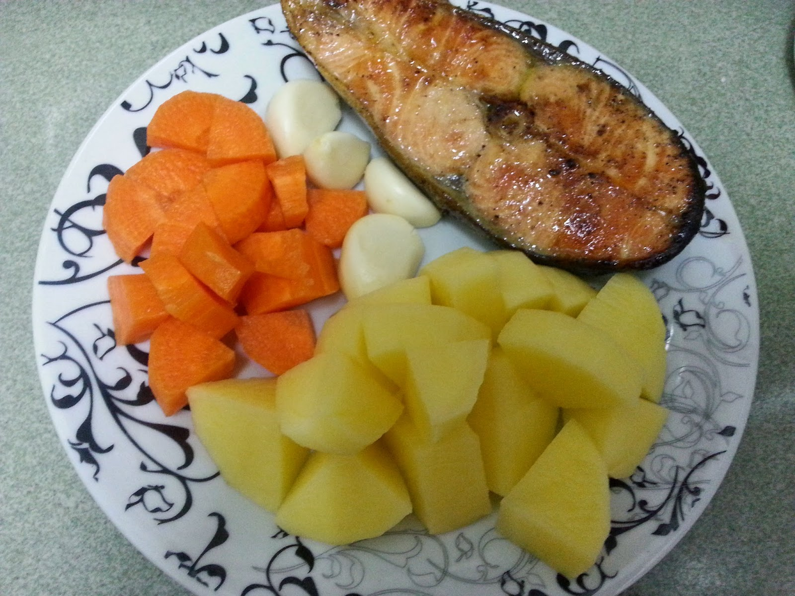 My Simple Life Story Resepi Bubur Nasi Ikan Salmon
