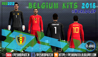 Belgium World Cup 2018 kits for PES 2013