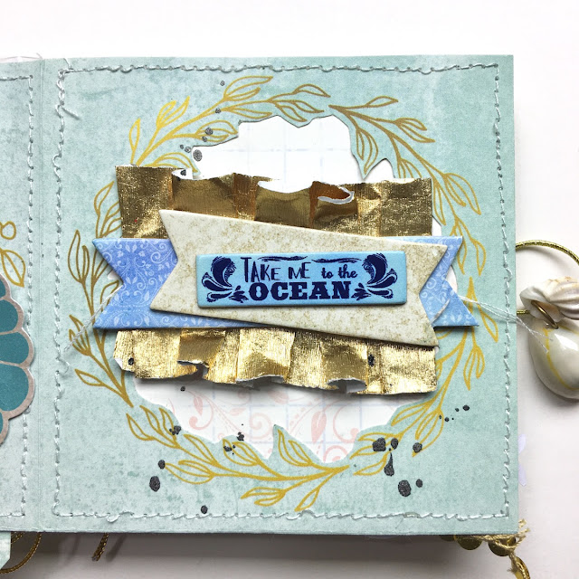 My Sun Mini Album by Angela Tombari using BoBunny Down by the Sea Collection