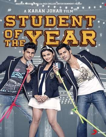 Poster Of Student of the Year 2012 Hindi 550MB BRRip 720p ESubs HEVC Watch Online Free Download downloadhub.in