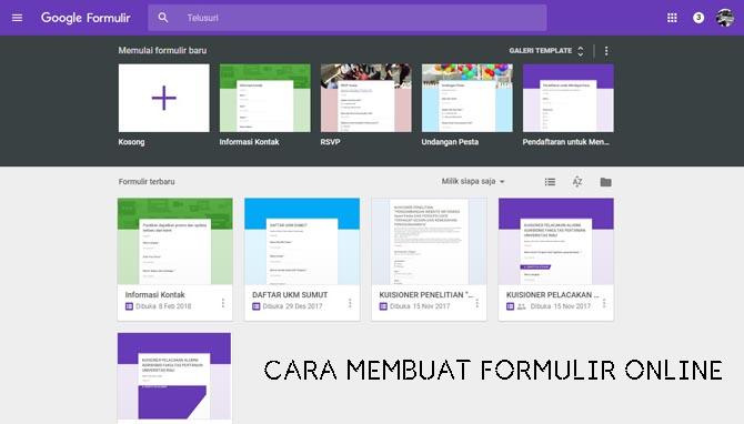 Cara Membuat link Google Formulir