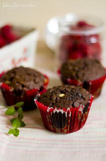 (Podwójnie czekoladowe muffiny