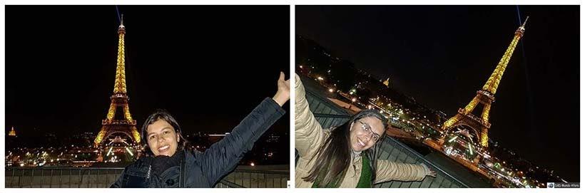 Alegria de ver a Torre Eiffel à noite - Diário de Bordo - 3 dias em Paris