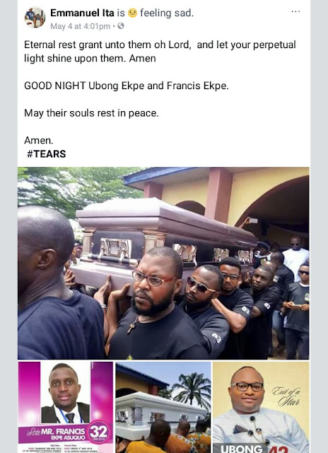 Drowned Skye Bank manager and his brother buried amidst tears in Akwa Ibom (photos)