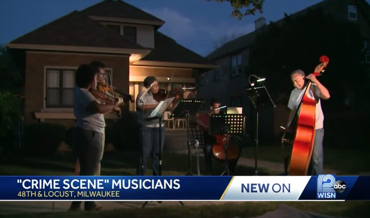 Musicians Perform At Crime Scenes To Help Neighbors Get Over A Tragedy