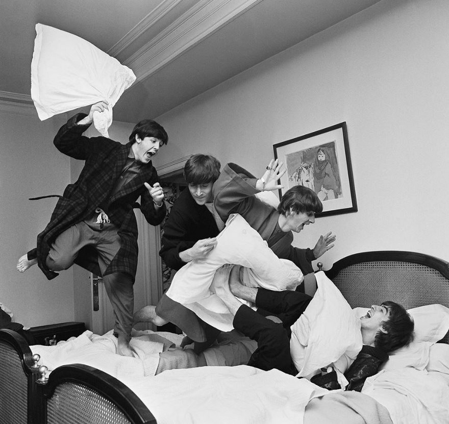 #30 The Pillow Fight, Harry Benson, 1964 - Top 100 Of The Most Influential Photos Of All Time