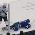 Jeff Carter destroys Alexander Kerfoot with tremendous hit