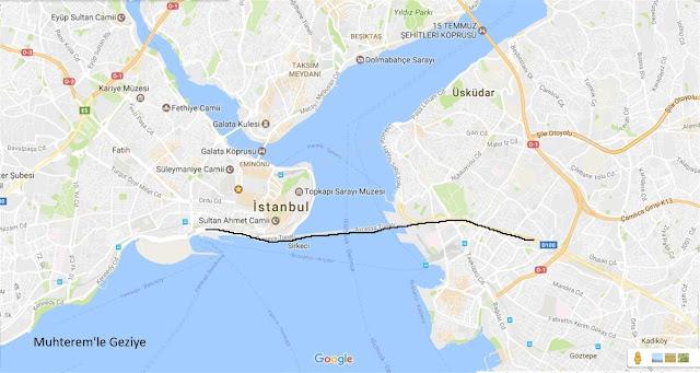 Avrasya tüneli yol güzergahı
