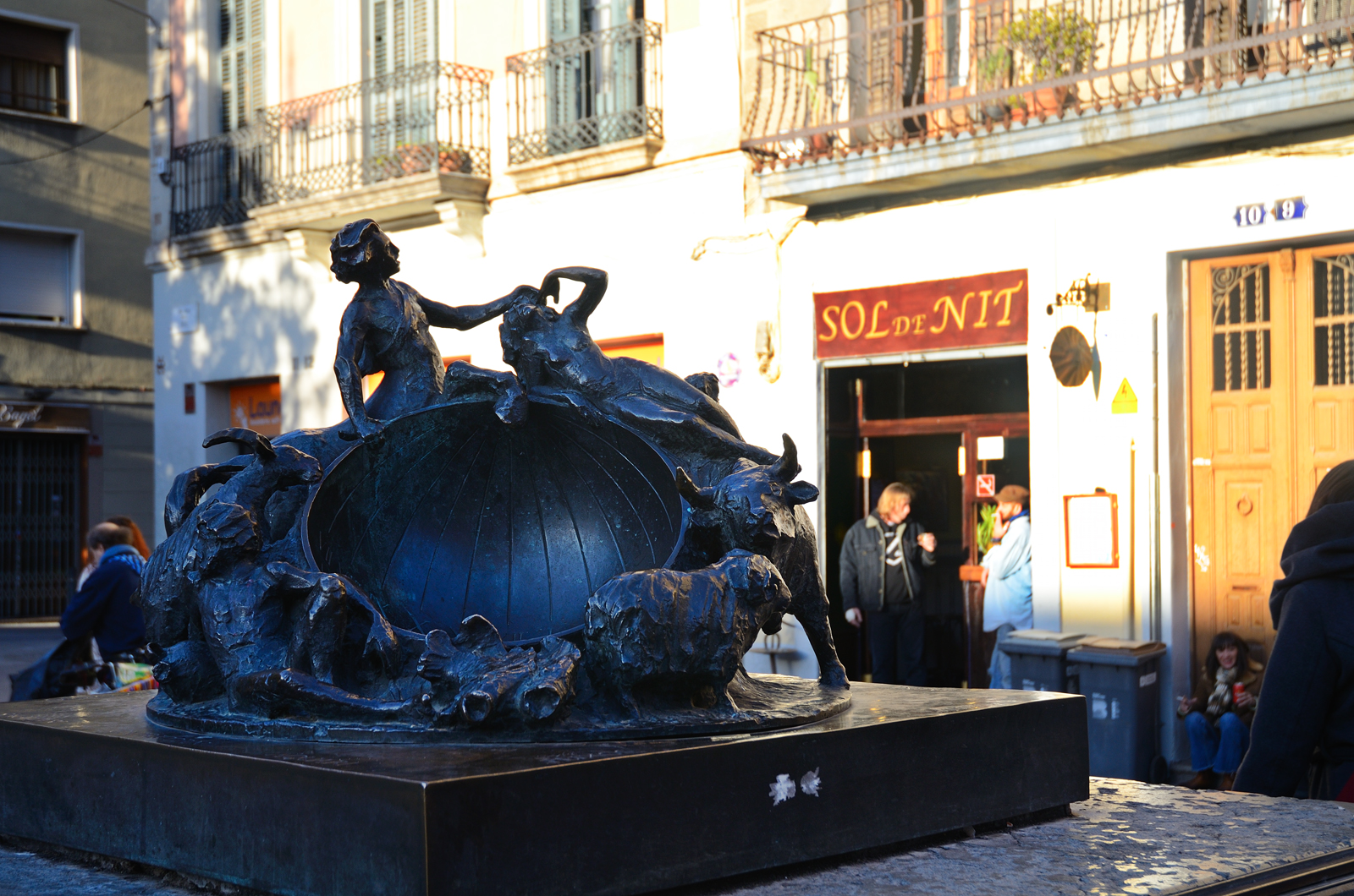 Astrolabe - Sculptural group by Joaquim Camps at Plaça del Sol, Gracia quarter, Barcelona