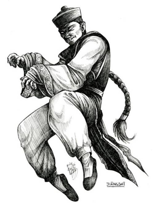 Dibujo de un Jiang Shi