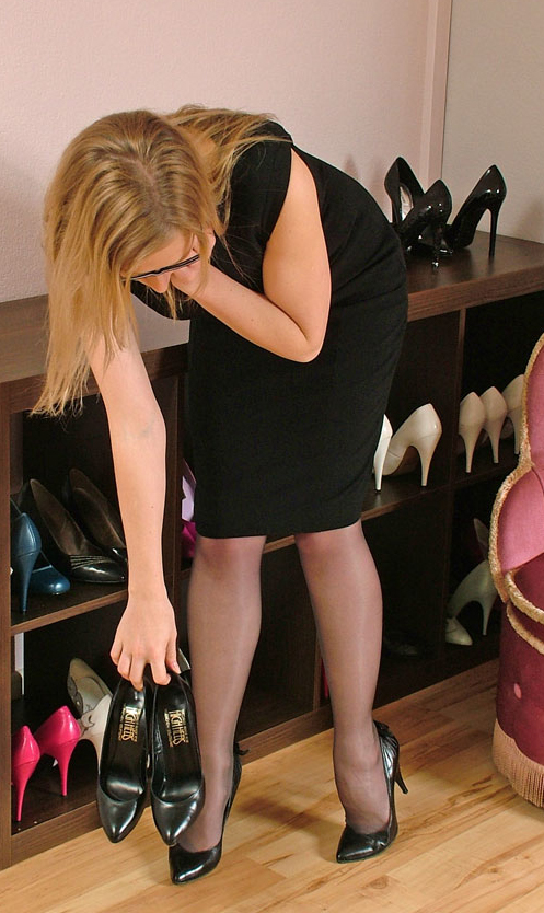 Nylons and pumps