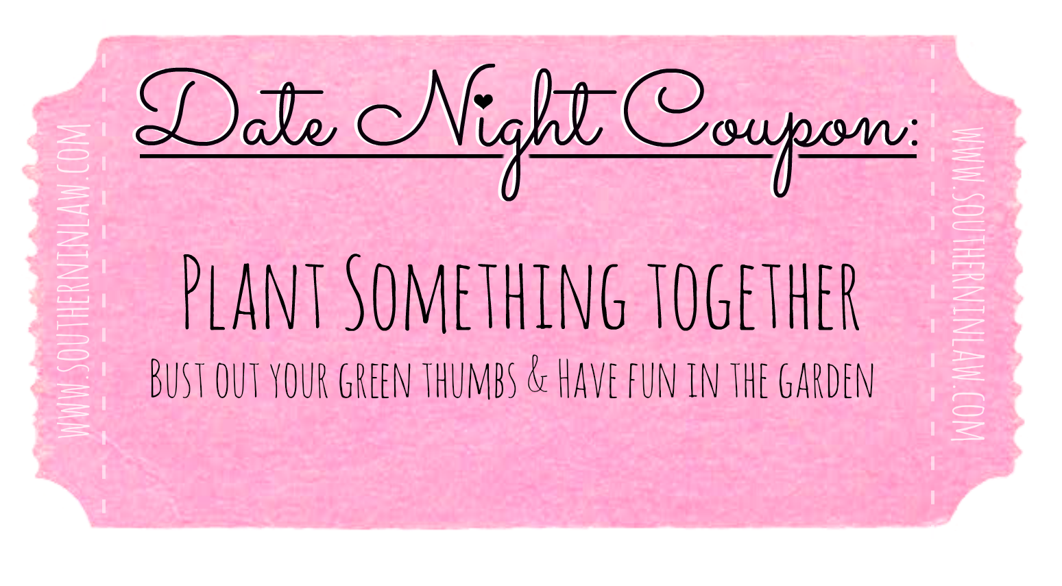 Affordable Date Ideas - Cheap Date Ideas Coupons - Plant Something Together
