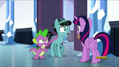 "Spike introduces ""Crystal Hoof"" to Twilight"