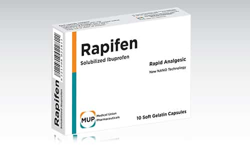سعر ودواعى إستعمال دواء رابيفين Rapifen كبسولات مسكن للالم