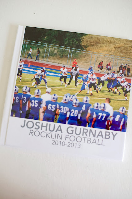 4 Years High School Football Career Photo Book